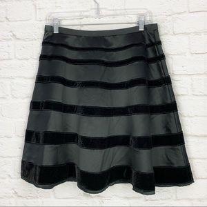 Behnaz Sarafpour Target Velvet Striped Aline Skirt